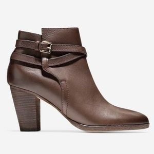 NWOB COLE HAAN Grand OS Hayes Leather Belt Bootie
